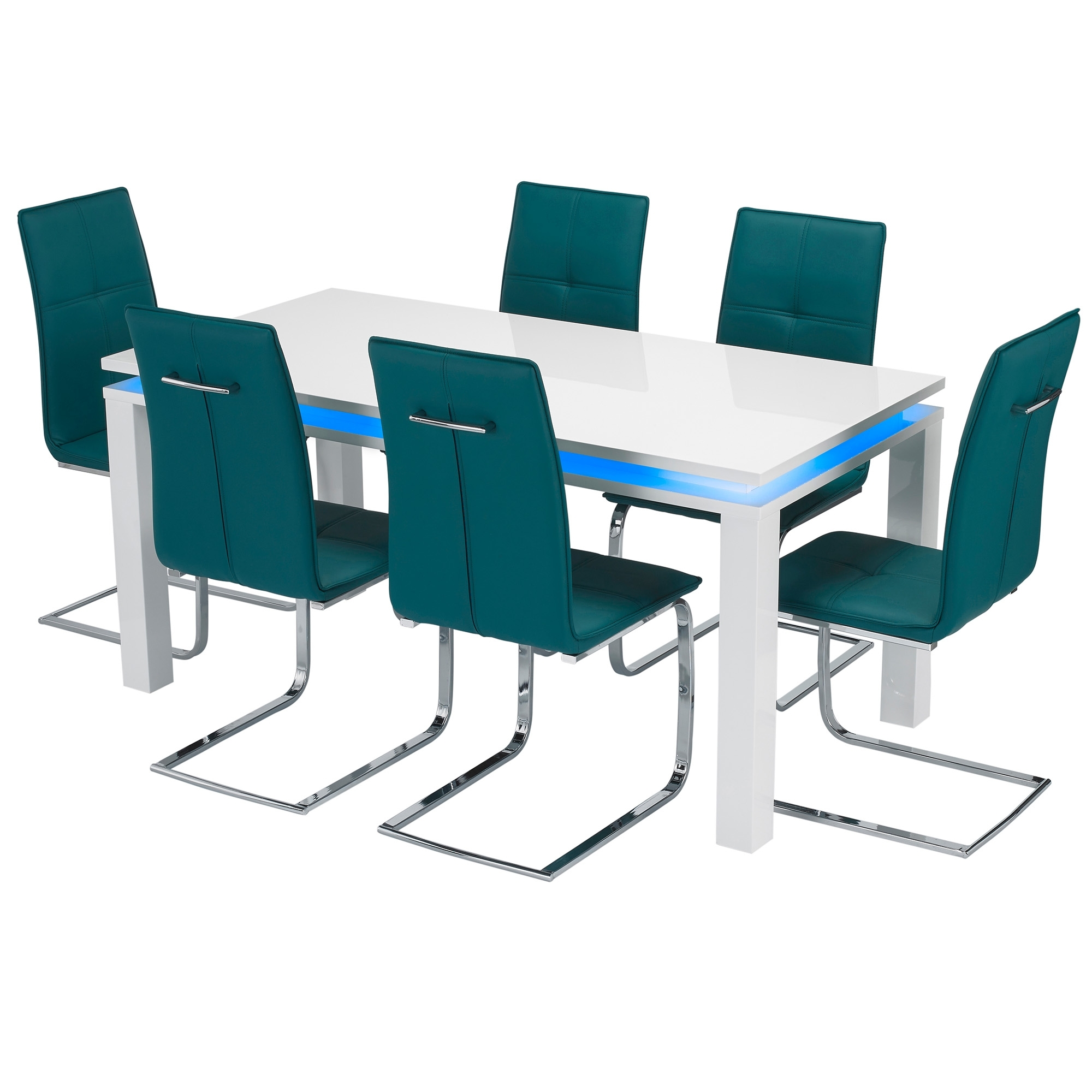 Milano led dining table set