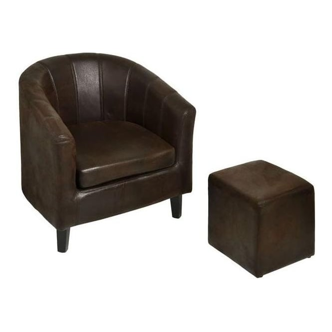 Milano Tub Chair And Foot Rest