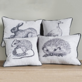 Mini Animal Sketch Cushions (12 Pack)