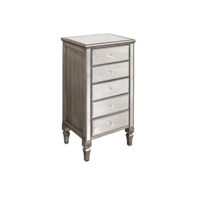 Mirrored 5 Height Chest