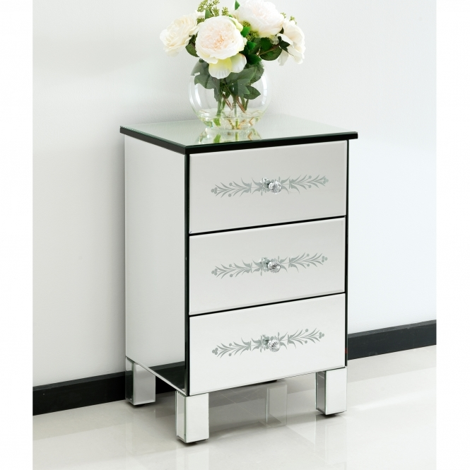 Mirrored Bedside Table Fabulous Popular Mirror