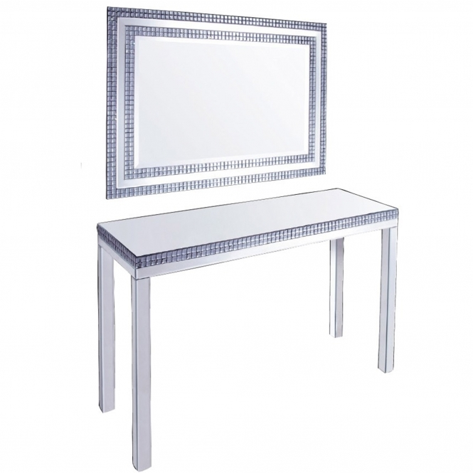 Mirrored Console Table Set