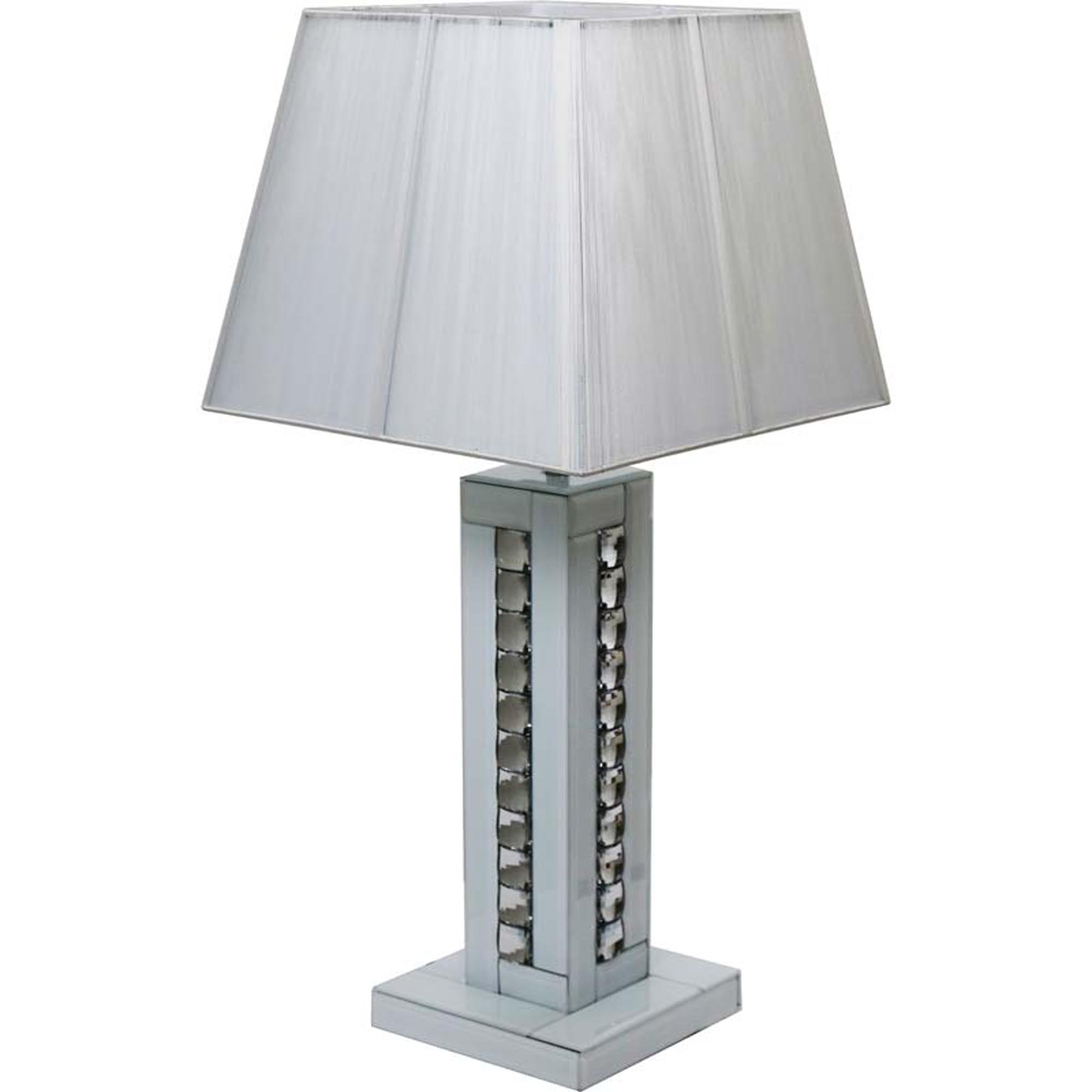 Crystal Table Lamp In White Lighting Table Lamps