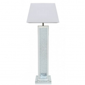Mirrored Crystal Tall Floor Lamp