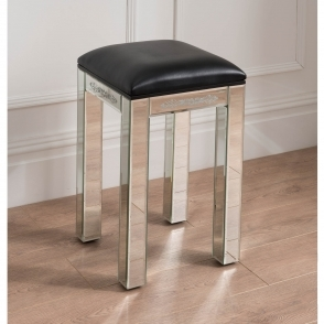 Mirrored Etched Stool