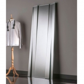 Mirrored Glass Bevelled Floorstanding Mirror