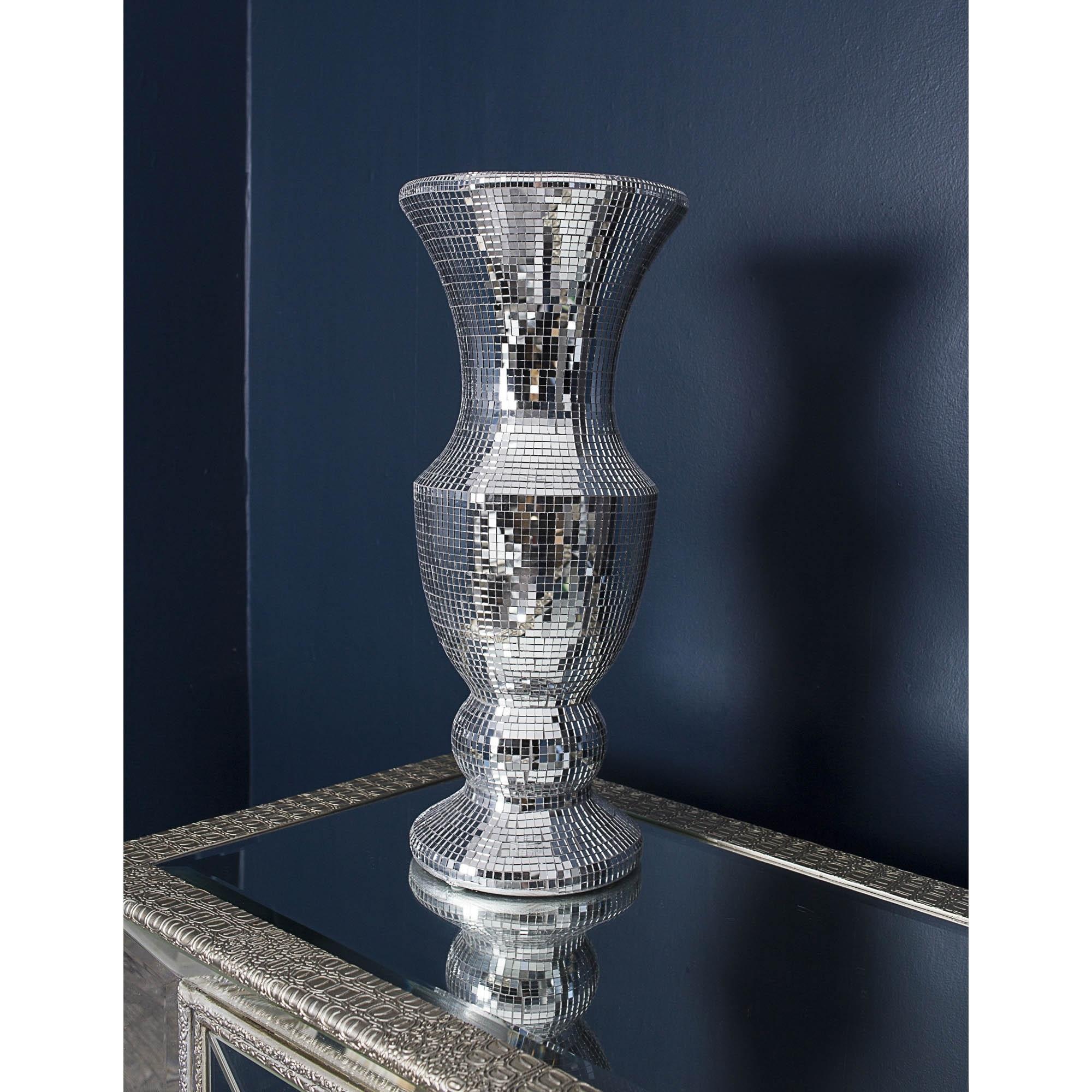 Mirrored glass mosaic vase vase homesdirect365 mirrored glass mosaic vase reviewsmspy