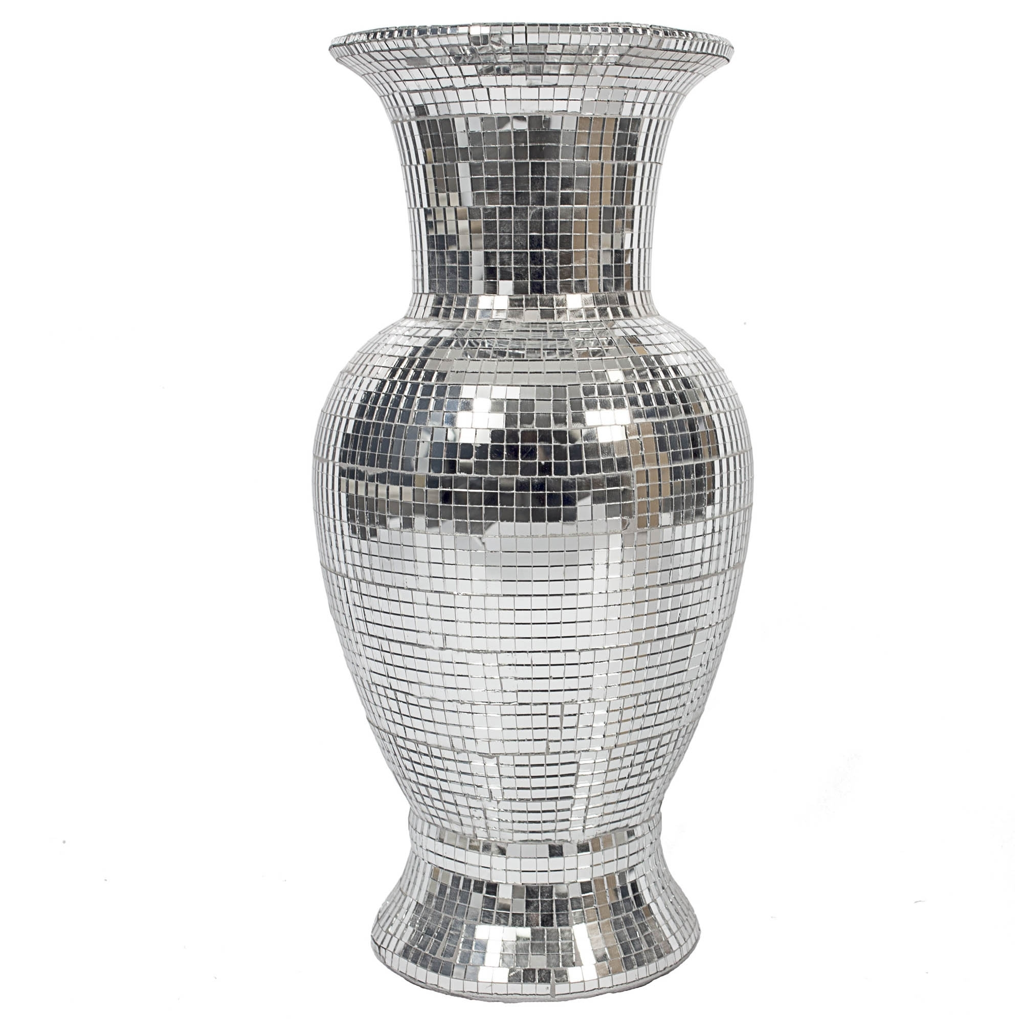 Mirrored Glass Mosaic Vase Vase Homesdirect365