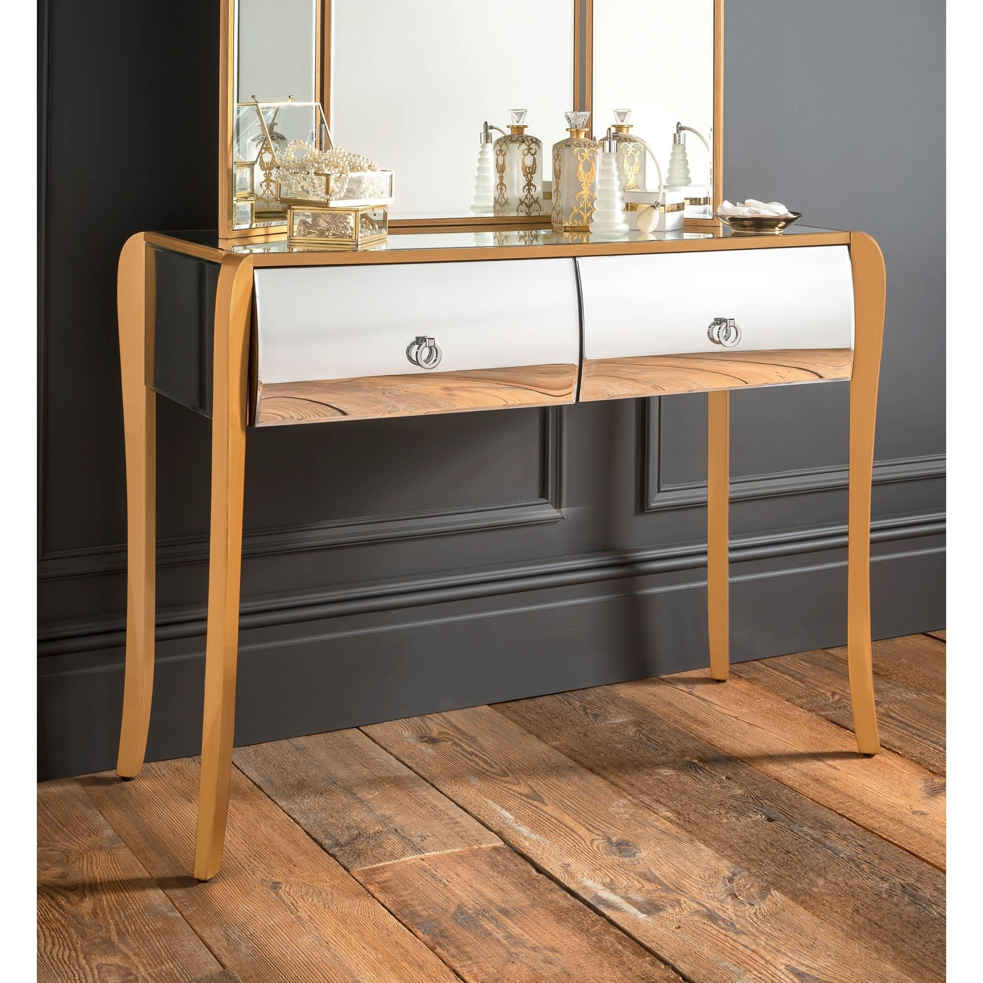the best attitude 1f1b2 8d22f Mirrored Gold Frame Dressing Table