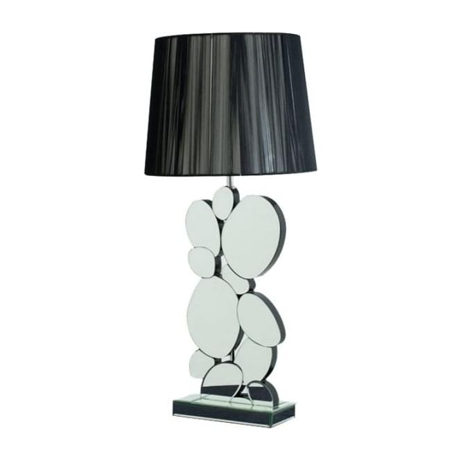 Mirrored Pebble Table Lamp
