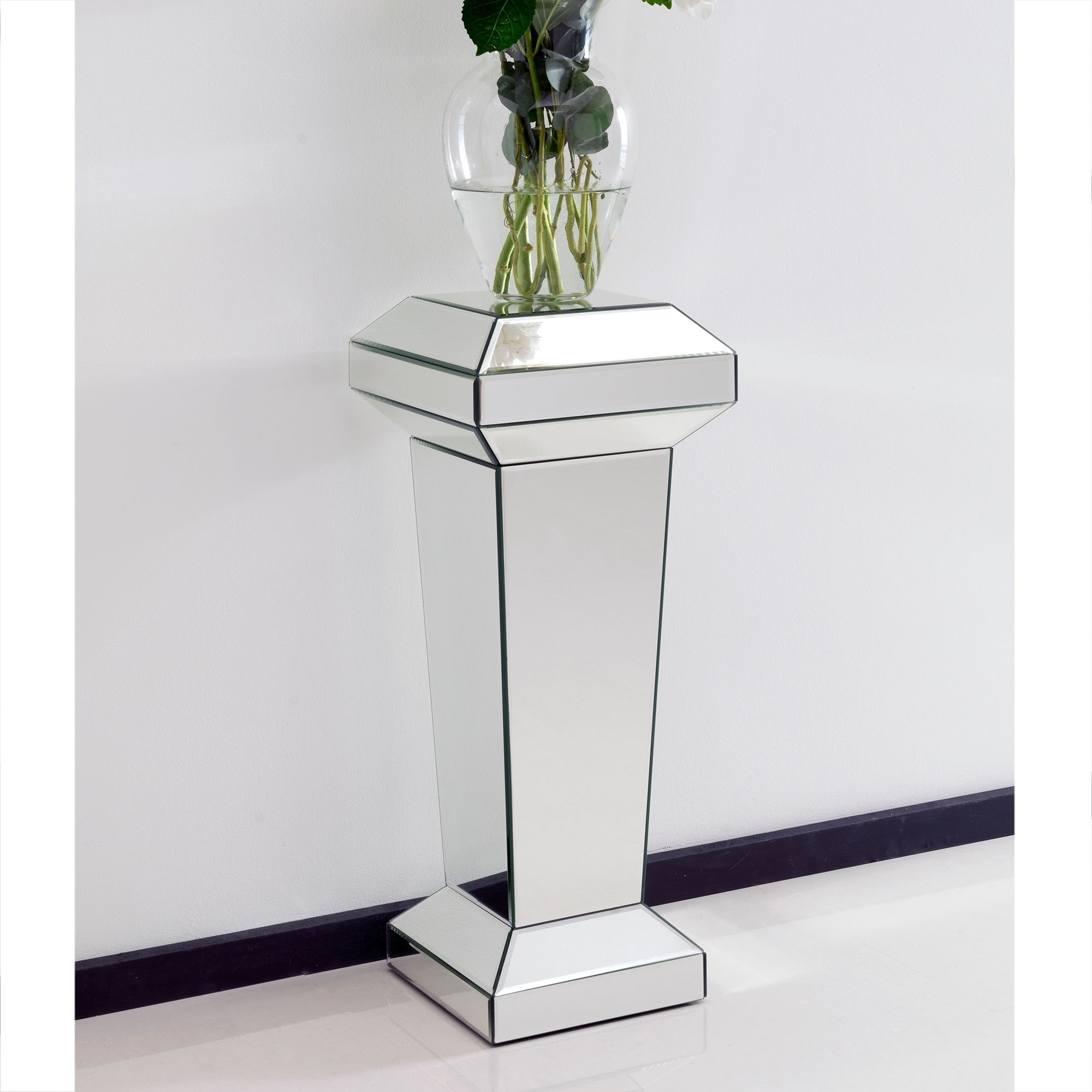 Mirrored Pedestal Stand French Furniture From
