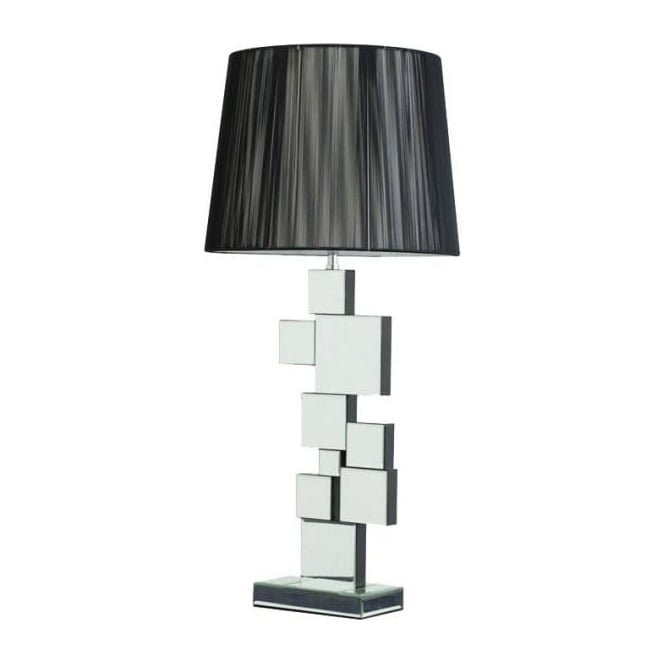 Mirrored Squares Table Lamp
