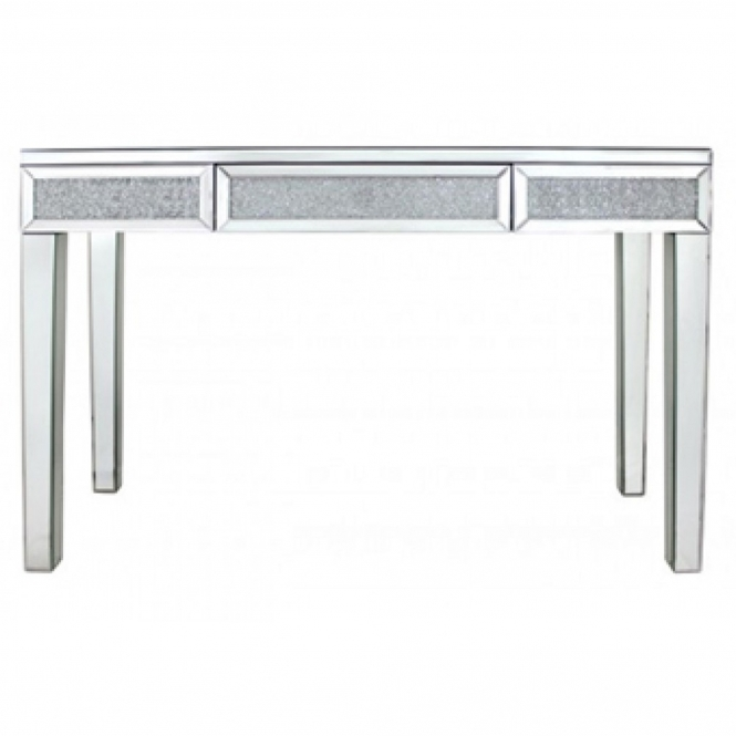 Mirrored Venetian Crushed Diamond Style Dining Table