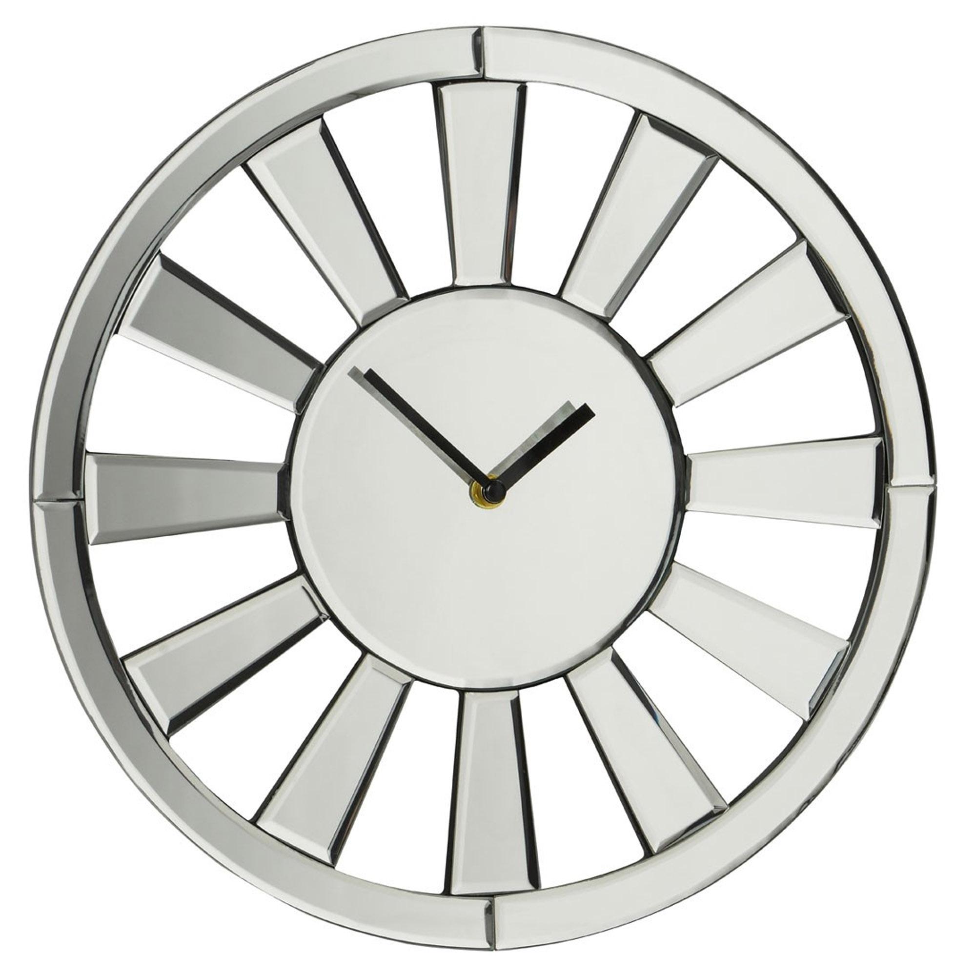 Mirrored Wall Clock | Modern & Contemporary Furniture