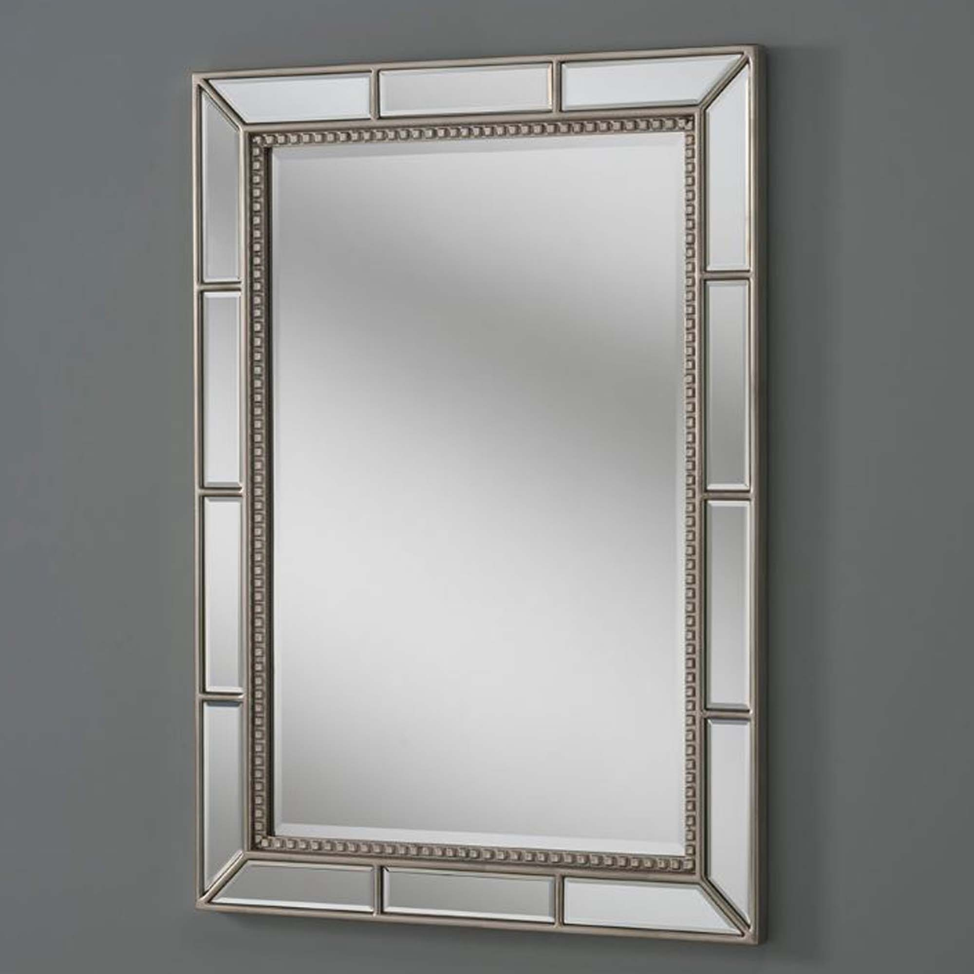 Mirrored Wall Mirror Silver Bevelled Frame | Mirrored Mirror
