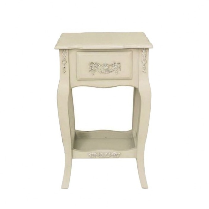 Mocha Wooden Antique French Style Bedside