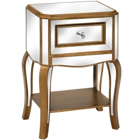 Modena Mirrored Bedside