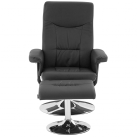 Modern Recliner Chair With Footstool