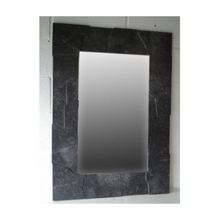 Modern Slate Style Wall Mirror