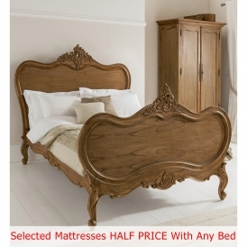 Montpellier Antique French Bed (Size: Super King) + Mattress - Bundle Deal
