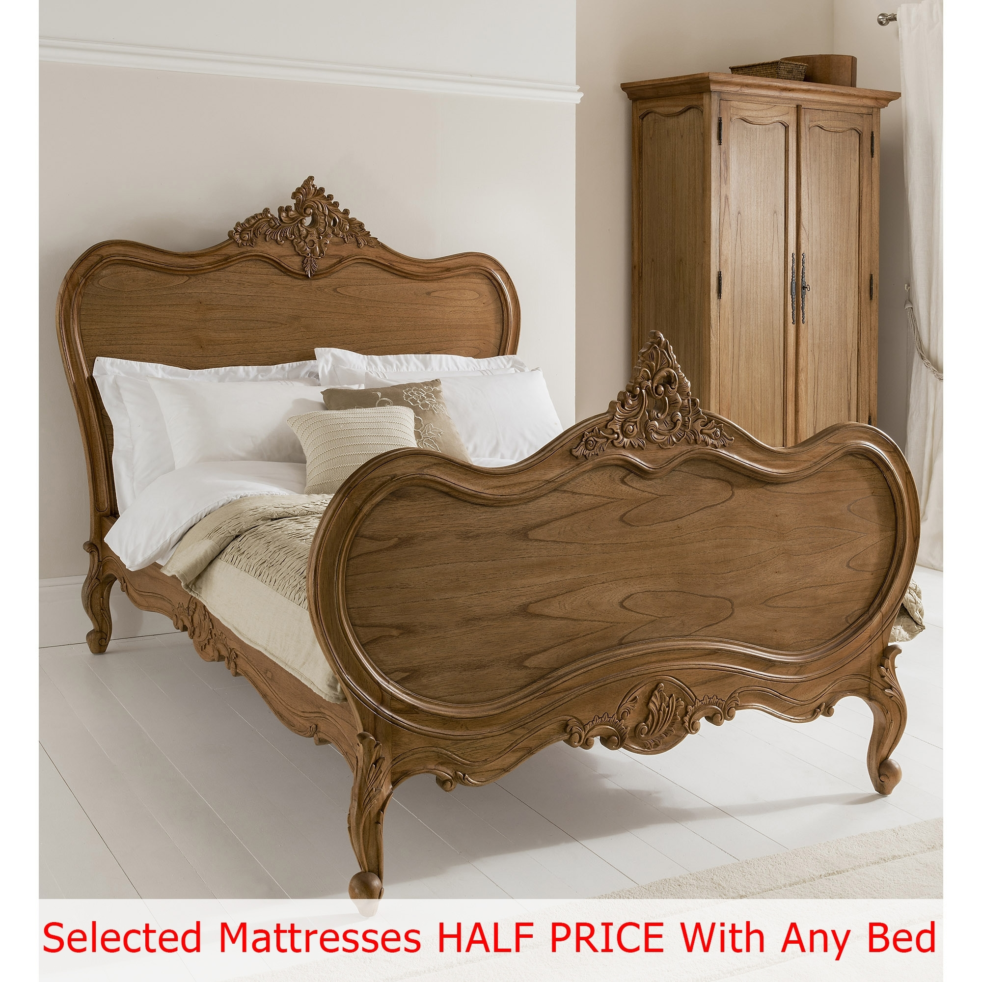 Montpellier Antique French Bed Shabby Chic Furniture