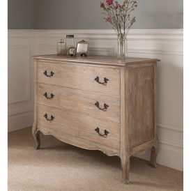 Montpellier Blanc 3 Drawer Chest