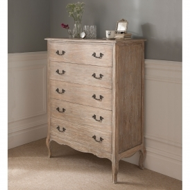 Montpellier Blanc 5 Drawer Chest