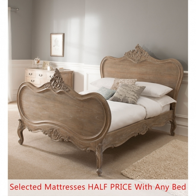 Montpellier Blanc Antique French Bed (Size: Super King) + Mattress - Bundle Deal