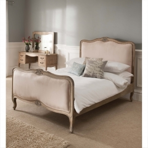 Montpellier Blanc Antique French Bed (Size: King)