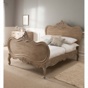 Montpellier Blanc Antique French Bed (Size: Super King)
