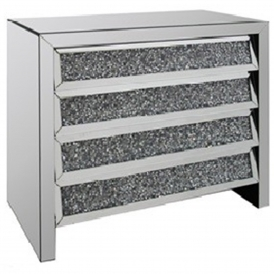 Monza Mirrored Chest of Drawers