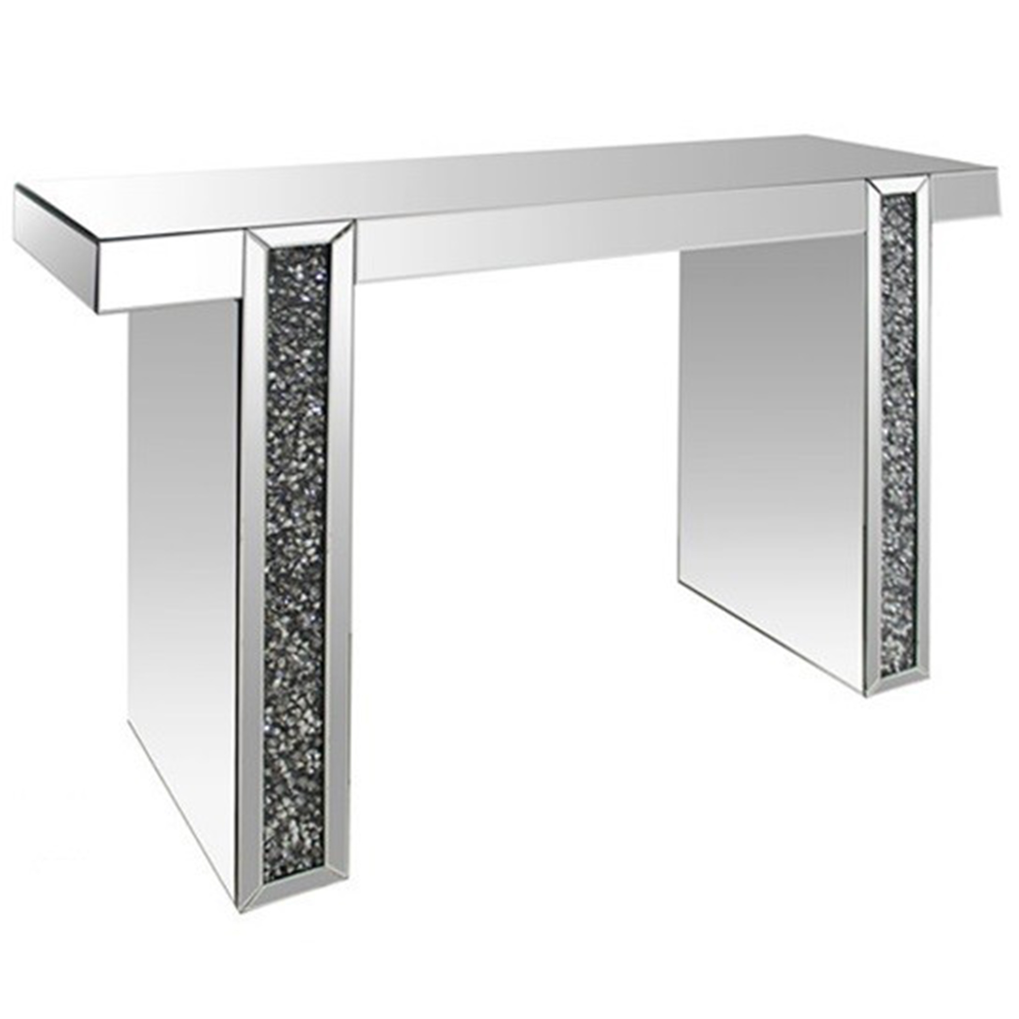 monza mirrored console table  french furniture from homesdirect  - monza mirrored console table