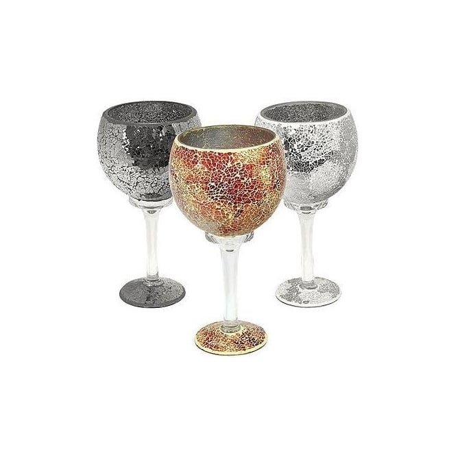 Mosaic Glass Goblet