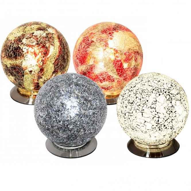Mosaic Glass Sphere Lamp