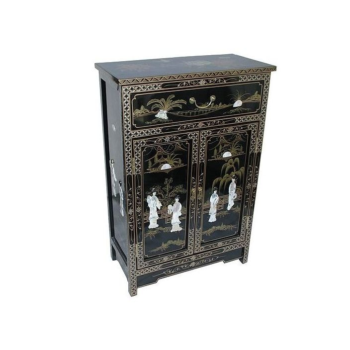 Unique Mother Of Pearl Cabinet: Mother Of Pearl Cabinet With Drawer