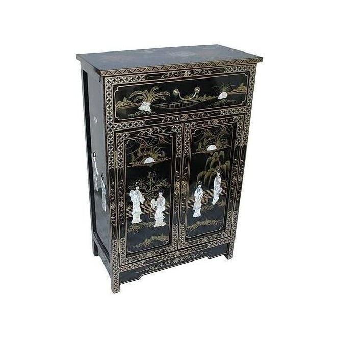 Mother of pearl cabinet with drawer chinese furniture for Asian furniture uk