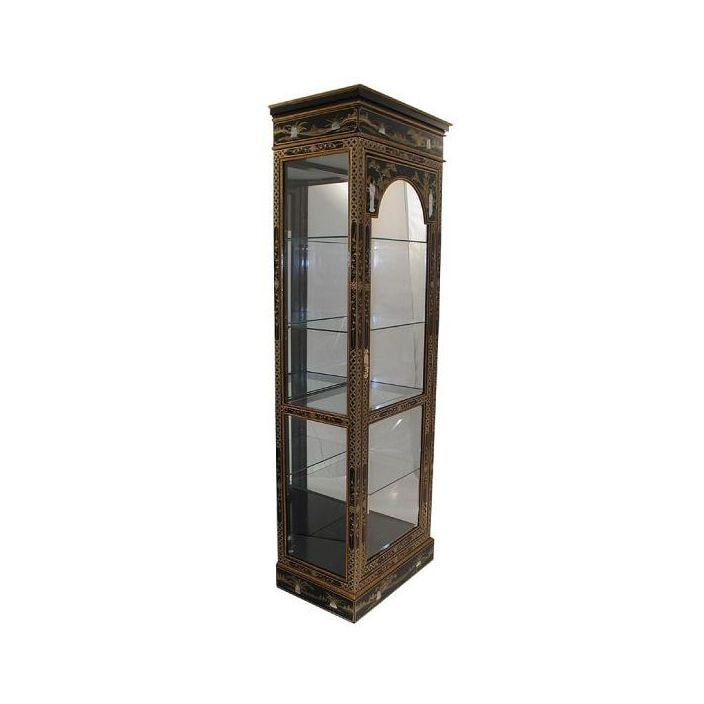 Unique Mother Of Pearl Cabinet: Mother Of Pearl Display Cabinet With Mirror