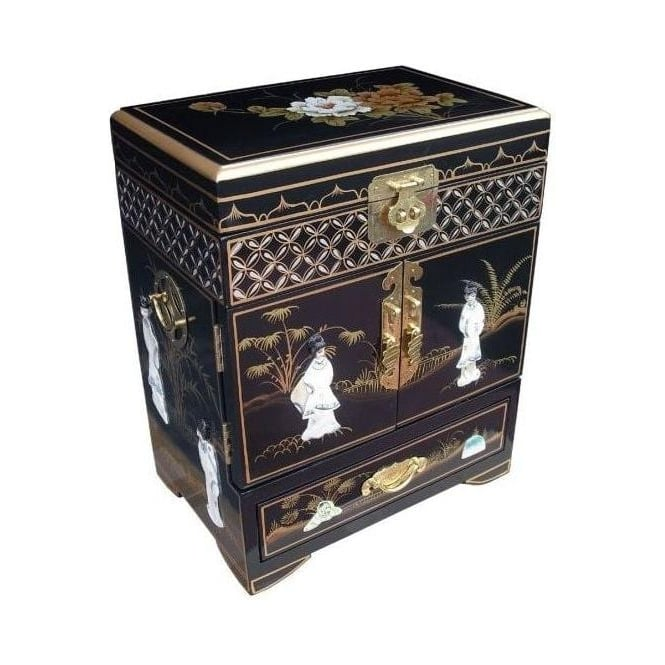 Mother Of Pearl Tall Jewellery Box