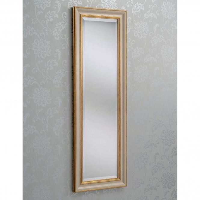 Multi Bevelled Gold and Ivory Wall Mirror
