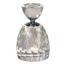 Multi-Faceted Crystal Perfume Bottle