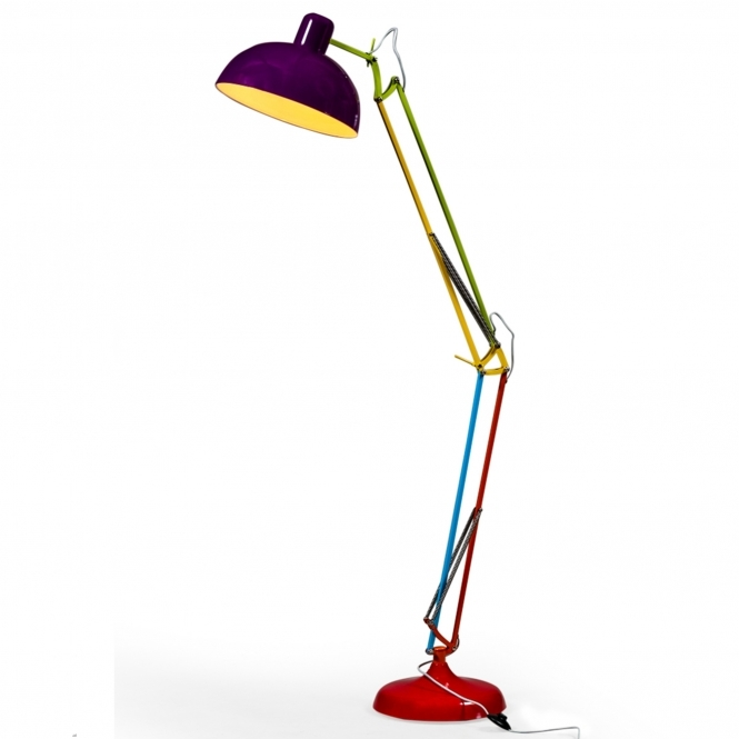 Multicoloured Extra Large Classic Desk Style Floor Lamp