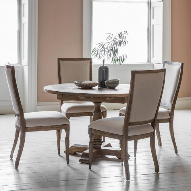 Mustique Round Extending Dining Table