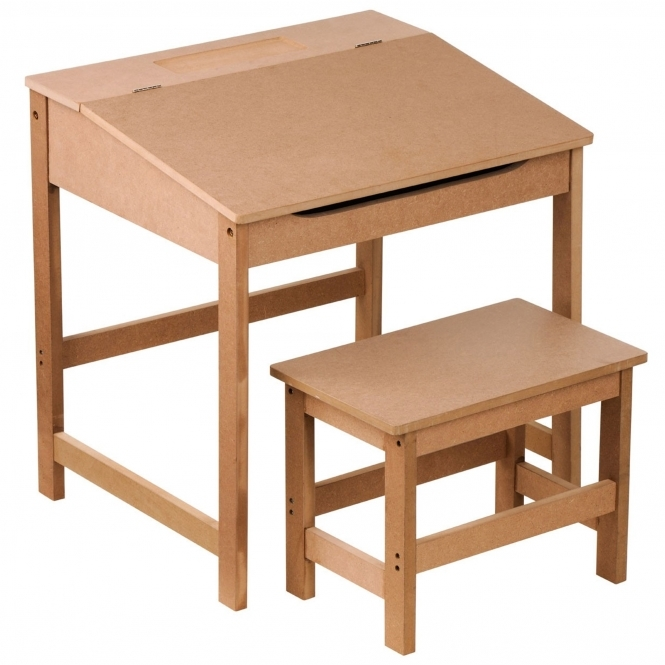 Natural Kids Desk And Stool