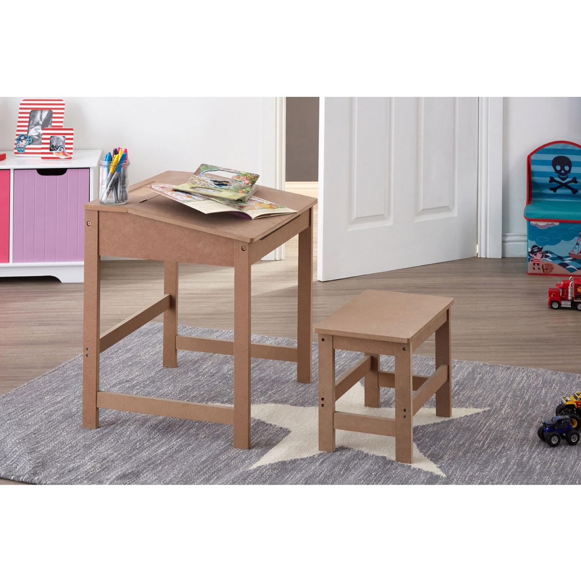 Magnificent Natural Kids Desk And Stool Download Free Architecture Designs Scobabritishbridgeorg