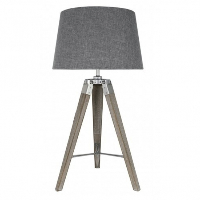 Natural Wood Modern Table Lamp