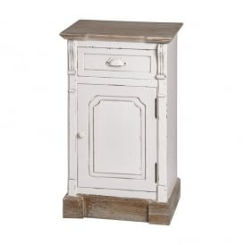 New England Shabby Chic Bedside Cabinet