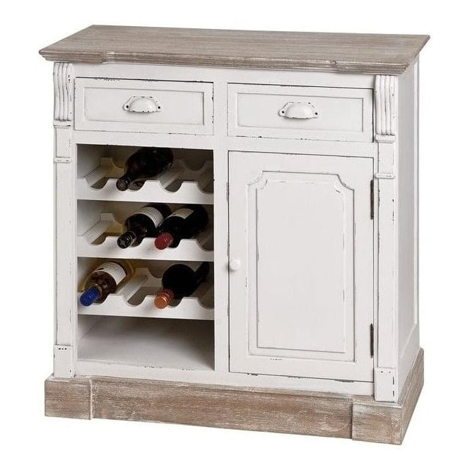 New England Shabby Chic Kitchen Cabinet