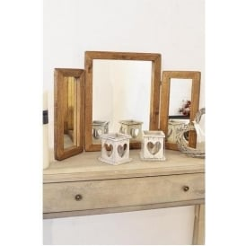 New Rustic Wooden Table Mirror