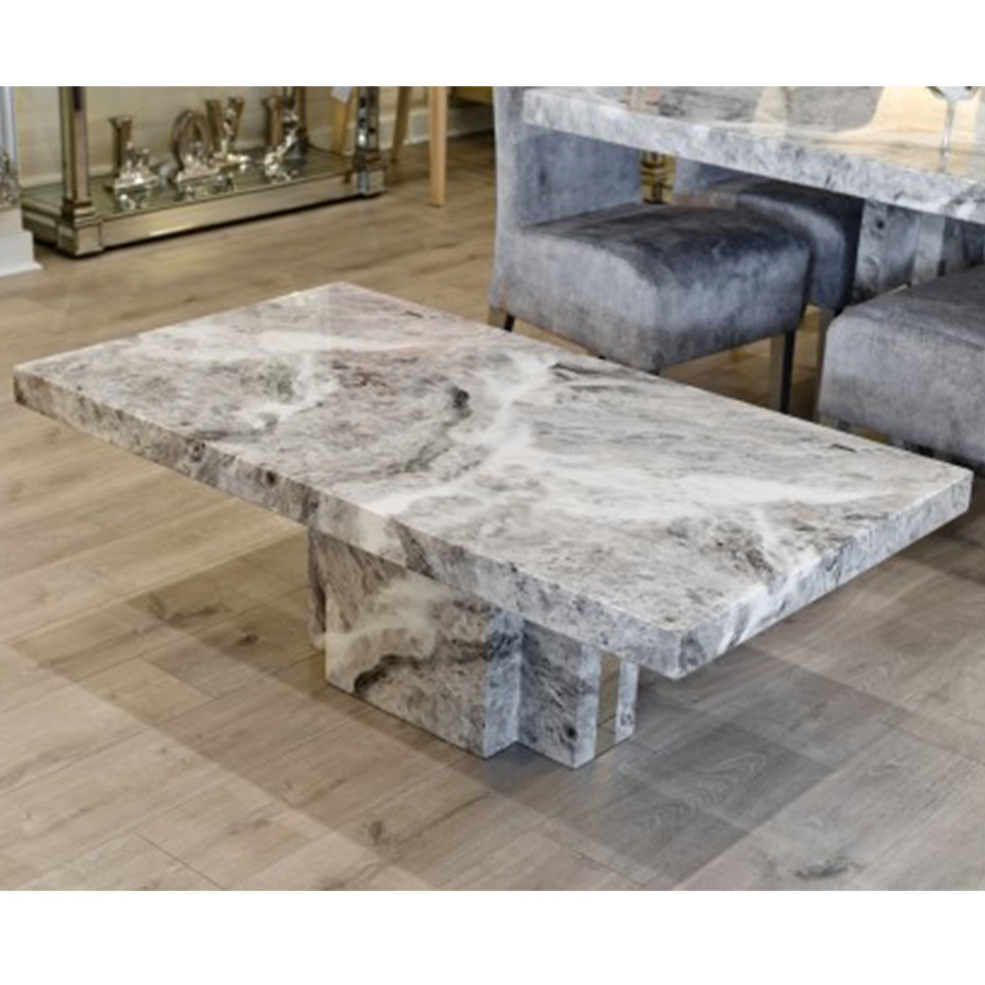 Picture of: Newcastle Grey Marble Coffee Table Modern Furniture