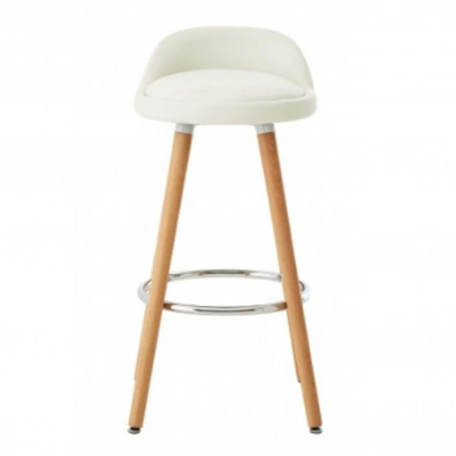 Normann White Bar Stool